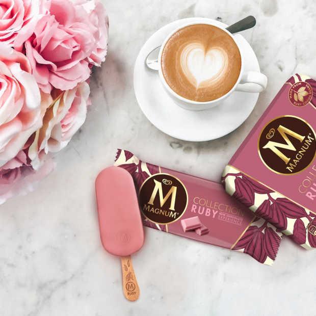Magnum introduceert als eerste in Europa ijs met ruby chocolade