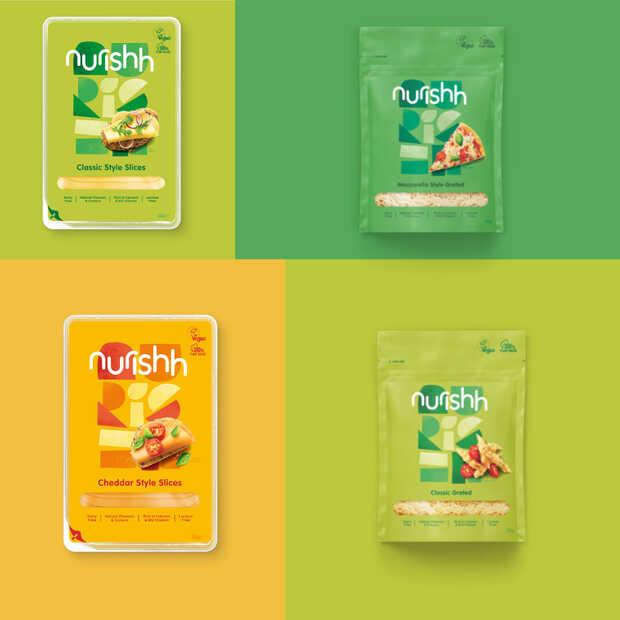 Nurishh is een nieuw plantaardig kaasmerk met vier producten