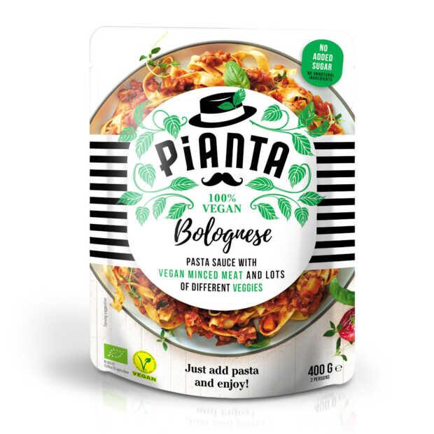Pianta Pasta brengt vernieuwde plantaardige pastasauzen op de markt