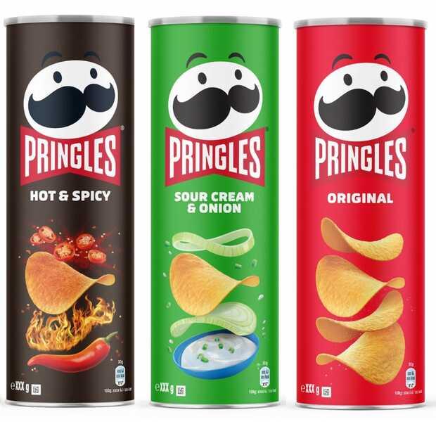 Bussen Pringles en mascotte hebben een make-over gekregen