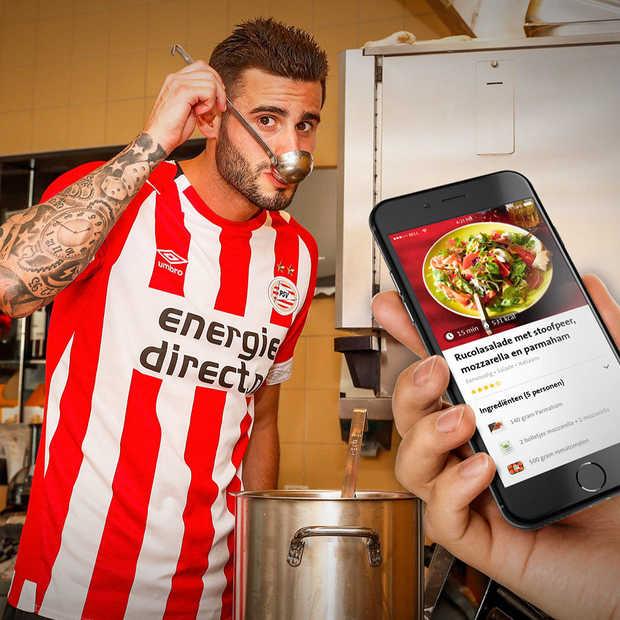 PSV spelers en speelsters kiezen voor gezonde voeding van Jumbo