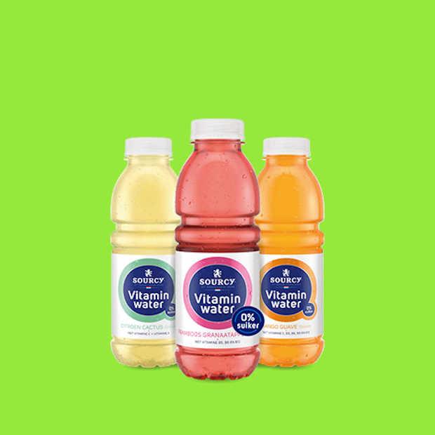 Sourcy Vitaminwater bevat voortaan geen suiker meer