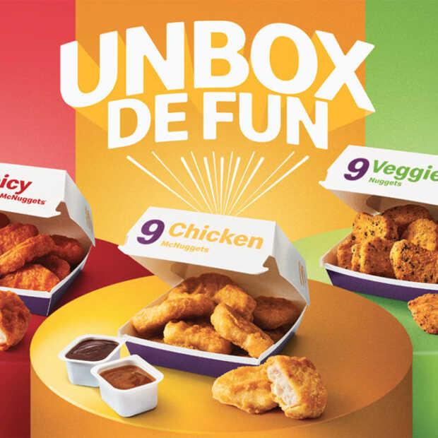 Tijdelijk twee nieuwe smaken McNuggets verkrijgbaar: Spicy en Veggie