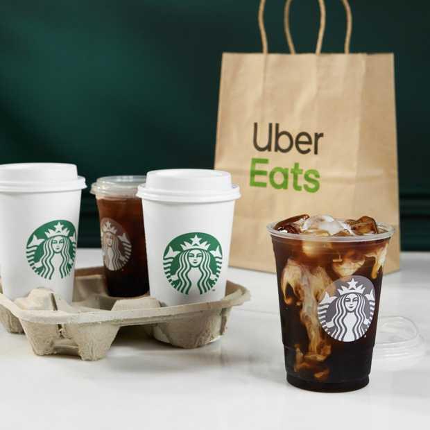 Vanaf nu mogelijk om Starbucks thuis te laten bezorgen via Uber Eats