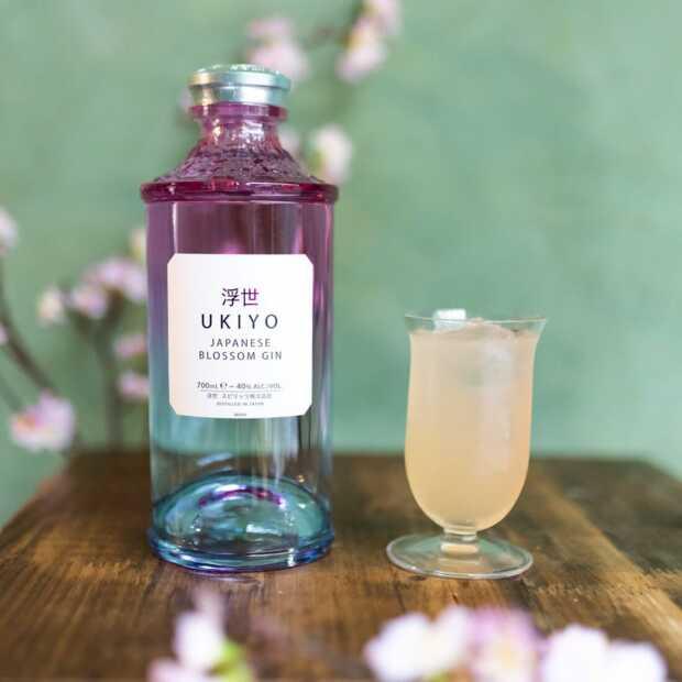 Er zijn twee nieuwe Japanse gins verkrijgbaar: Ukiyo Blossom en Ukiyo Yuzu