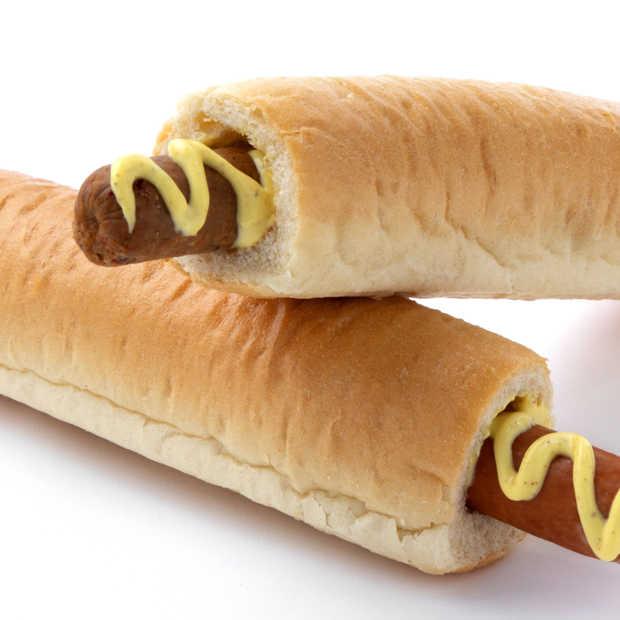 Vegan hotdog (met saus!) verkrijgbaar bij Hema