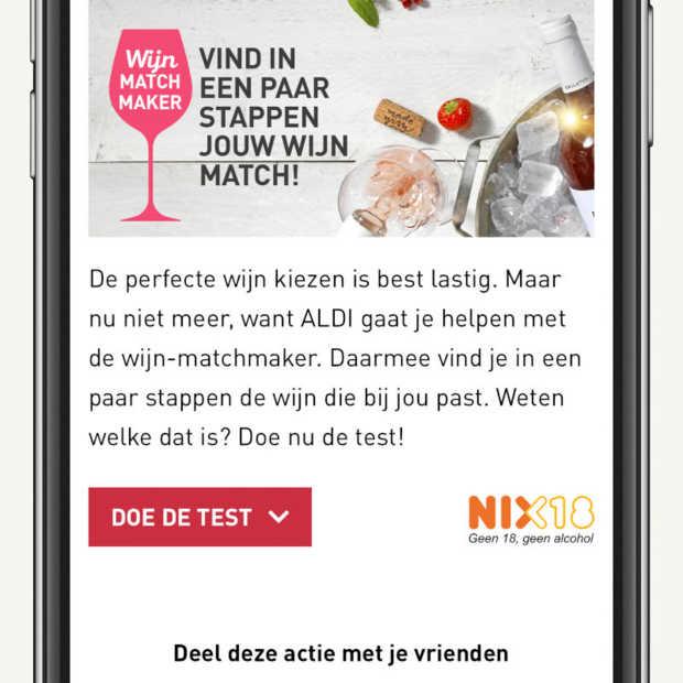 Supermarktketen Aldi introduceert wijn-matchmaker
